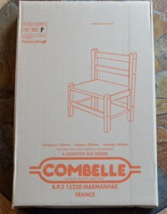 Petite chaise combelle emballée