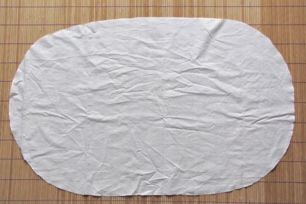 Tissu en coton pour le recto de la housse.