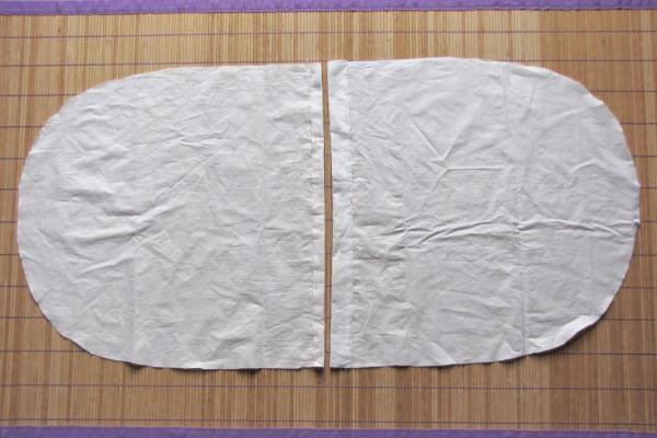 Tissu en coton pour le verso de la housse.