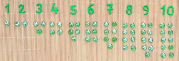Le jeu des jetons Montessori
